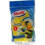 Рукавички гумові Nicols L