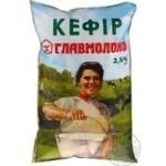 Кефір Главмолоко Селянський пастеризований 2.5% 900г плівка Україна