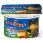 Yogurt Danone Masha i Medved biscuit 1.4% 115g plastic cup Ukraine