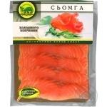 Рыба семга К.и.т холодного копчения 180г вакумная упаковка Украина