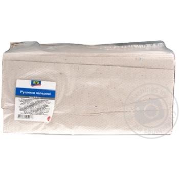 Полотенца бумажные Aro серые 200л