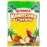 Shavings Ukrasa coconut yellow for desserts 25g