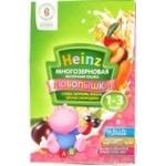 Baby porridge Heinz Lyubopyshki multigrain milk porridge carrots cherry plum black currant dry for 1 to 3 years babies 200g Russia