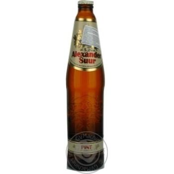 Пиво А Ле Кок Александер Суур светлое 5.2%об. стеклянная бутылка 568мл Эстония