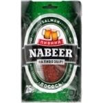 Лосось Пивний Nabeer соломка солено сушеная 25г