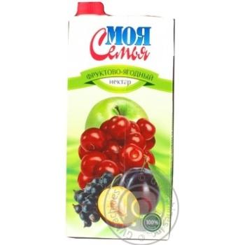 Нектар Моя семья ягодные фруктово-ягодный 1930мл тетрапакет Украина