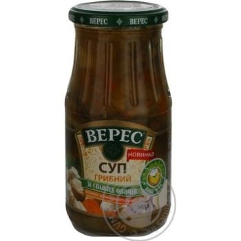 Суп Верес грибы консервированная 505г стеклянная банка Украина