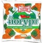 Йогурт Злагода Ананас 1.5% 450г пленка Украина