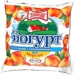 Йогурт Злагода Персик 1.5% 450г пленка Украина