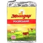 Продукт сырный Молодар Российский плавленый 45% 90г Украина