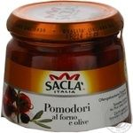 Vegetables tomato Sakla with olives in oil 285g glass jar Italy