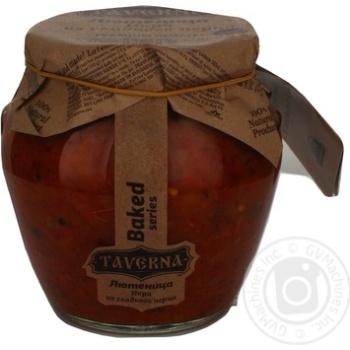 Лютеніца ікра з солодкого перцю Таверна скляна банка 580мл