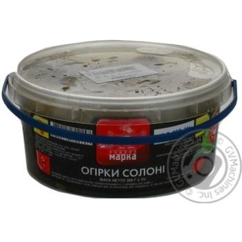 Огурцы соленые Чудова марка 300г - купить, цены на Novus - фото 1