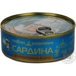 Fish sardines Baltijas in oil 240g can