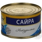 Fish saury Easy and good canned 240g can Ukraine