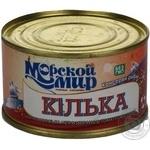 Килька Морской Мир черноморская неразобранная в томатном соусе 240г