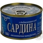 Fish sardines Arktika №5 with addition of butter 240g can Ukraine