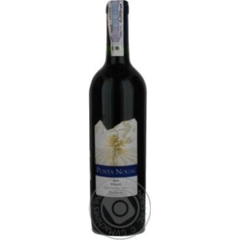 Вино шираз Пунта ногал красное сухие 13.5% 2010год 750мл стеклянная бутылка Сентрал велли Чили