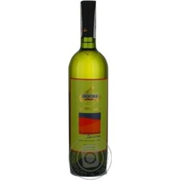 Wine tsolikauri Gocha white semisweet 12% 750ml glass bottle Georgia