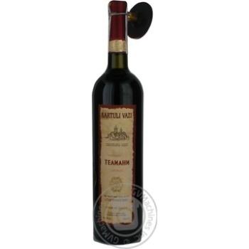 Вино Kartuli Vazi Телиани красное сухое 12% 0,75л