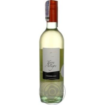 Вино Terre Allegre Trebbiano белое сухое 11% 0.75л
