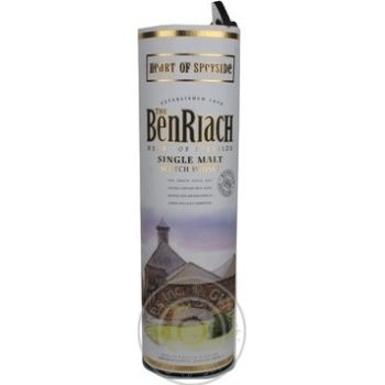 Виски BenRiach 40% 0,7л в тубусе