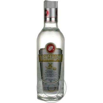 Горілка Олександрія Пшенична 40% 500мл скляна пляшка Україна