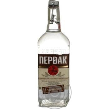 Vodka Pervak with garlic 40% 700ml glass bottle Ukraine
