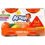 Puree Agusha peach for children from 5 months 230g glass jar Russia