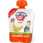 Puree Agusha banana pasteurized for children from 6 months 90g doypack Spain