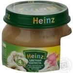 Пюре Хайнц Цветная Капуста без крахмала без соли для детей с 4 месяцев стеклянная банка 80г Италия