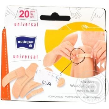 Пластырь Matopat Universal медицинский универсальный эластичный 20шт