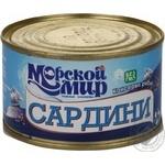 Fish sardines Morskiy svit with addition of butter 230g can Ukraine
