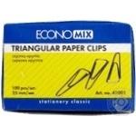 Скрепка EconoMix треугольная 25мм 100шт