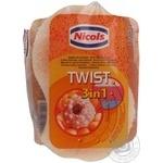 Губки банні Nicols Twist 3-х слон.506369