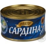 Fish sardines Ekvator with addition of butter 200g
