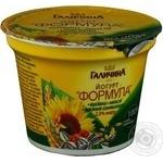 Йогурт Галичина Формула отруби-мюсли-семечки подсолнечника 2.5% 200г пластиковый стакан Украины