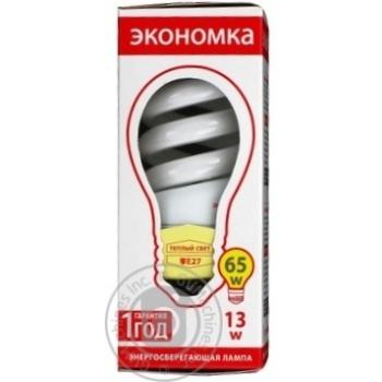 Лампа компактна люмінісцентна Економка SPC 13w E 27-27