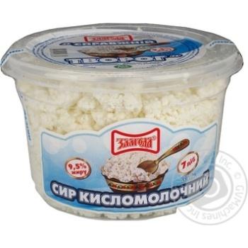 Творог Злагода Справжний 9.5% 350г пластиковый стакан Украина