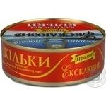 Fish sprat baltic Proliv in tomato sauce 240g can Ukraine