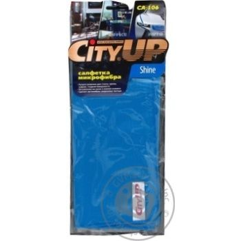Серветка з мікрофібри City UP Shine 35х40 СА-106 582738