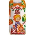 Juice Sady pridonia carrot with pulp for children from 5 months 200ml tetra pak Russia