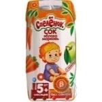 Сок Спелёнок Яблоко-Морковь с мякотью без сахара для детей с 5 месяцев 200мл тетрапакет Россия