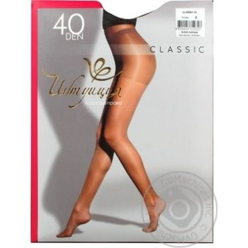 Intuicia Classic Women's Tights 40Den Black size 4 - buy, prices for MegaMarket - image 6