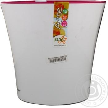 Вазон АРТЕ 2 л. білий пурпурний арт.F3 ALB-LIL - купить, цены на МегаМаркет - фото 1