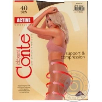 Колготи жiночi Conte Active Bronz 40ден р.2 Bronz - купити, ціни на CітіМаркет - фото 2