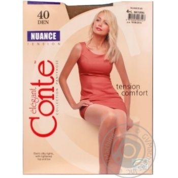 Колготы Conte Nuance 40 Den р.4 natural шт - купить, цены на МегаМаркет - фото 2