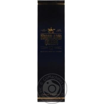 Віскі Highland Queen 12 років 40% 0.7л - купити, ціни на МегаМаркет - фото 1