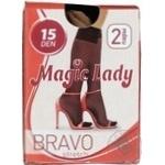 Напівпанчохи жіночі magic lady bravo 15 ден бежевий