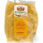 Вироби макаронні органічні паста із твердої пшениці Castagno форма вермішель